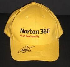 GARTH TANDER SIGNED NORTON CAP UNFRAMED + PHOTO PROOF & C.O.A