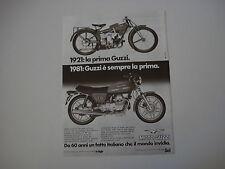 advertising Pubblicità 1981 MOTO GUZZI V35 V 35 II