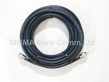 RG213 Low Loss 50 Ohm Coaxial Cable 20m Fitted With 2 x PL259 Male Connectors