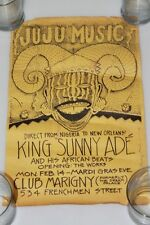 "1983 Juju Music From Nigeria to New Orleans King Sunny Ade Poster 17"" x 11"""