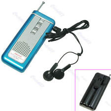Hot Portable Belt Clip Auto Scan FM Radio Receiver With Flashlight Earphone