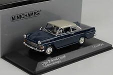1960 Opel Rekord P2 Coupe blue grey Royalblau  Minichamps 1:43