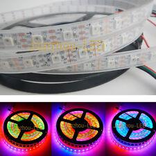 5M WS2812B 60LED/M 5050 RGB Dream 300 LED Strip Light Tube Waterproof Digital 5V