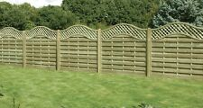 DECORATIVE FENCE PANELS, Santiago 1.8 x 1.8, Arch / Wave top, treated, quality