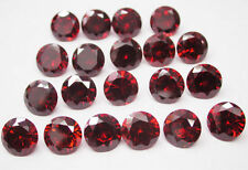 25 PEZZI DI 1mm round-facet hot-red Zirconi Pietre Preziose