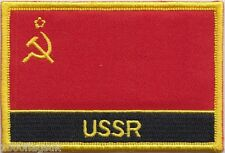 USSR Soviet Union Russia Flag Embroidered Patch Badge - Sew or Iron on