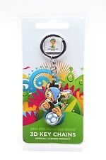 New FIFA World Cup 2014 Brazil PVC Key chains FULECO Kicking ball  ( 2 sided )