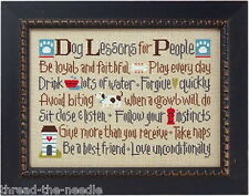 Lizzie Kate, Dog Lessons for People - Counted Cross Stitch Pattern Chart