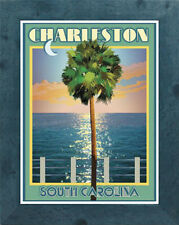Charleston, SC (Framed) - Art Deco Style Travel Poster -by Aurelio Grisanty