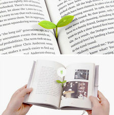 Leaf Bookmarks Note Memo Pad Gifts Stationery Silicone 4PCS Novelty Mark Book