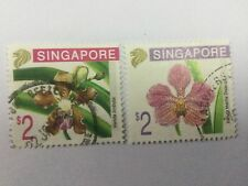 1995 Malaya Singapore 2 Orchids Series stamps