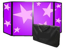 SS Foldable DJ Screen Folding Facade Front DJ Lighting Mobile Disco & Carry Bag