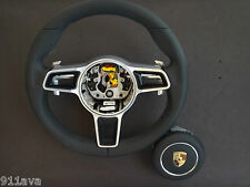 991 - 997.2 PDK NEW STYLE GT3  RS BLACK LEATHER  STEERING WHEEL WITH A - BAG