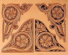 FLORAL CORNER PLASTIC CRAFTAID TEMPLATE 76617-00 Tandy Carving Leather Craftaids