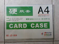 A4 Hard Plastic Card Case, Size : 297 x 210mm