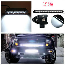 """SUV ATV JEEP Durable 15"""" 36W White LED Spot Light Bar Driving Offroad Work Lamp"""