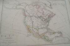 CARTE AMERIQUE DU NORD  DUSSIEUX 1865 COULEURS