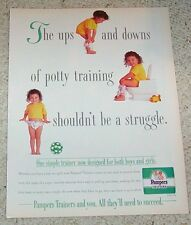 1995 ad page -Pampers Trainers diaper Baby Training Pants Girl PRINT ADVERTISING