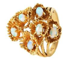 Heirloom Style 1.50ctw Opal 14KT Yellow Gold Coral Design Ring - #232 Lot 414