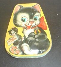 """TWO BLACK & WHITE CATS- Vintage GEORGE W HORNER & Co Embossed 4-1/2"""" W 6"""" L 1"""" D"""