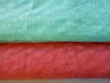 "51"" Wide Lace Organza  Fabric with Embroidery Flowers for DIY Sewing/Green /Red"