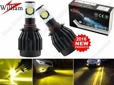 2pcs H11 LED Fog Lights Yellow CREE Chips Golden Eyes Bulbs For Audi Error Free