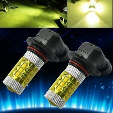 2x H10 9145 Car LED Fog Light 60W Samsung 2323 Projector DRL Bulb 4300K Yellow