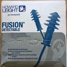 Howard Leight Fusion Metal Detectable Corded Ear Plugs FDT30-SM box of 100 pair