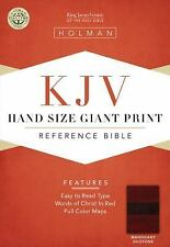 KJV Large Print Personal Size Reference Bible, Mahogany LeatherTouch  Books-Good