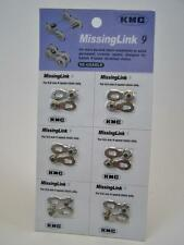 6 Pack KMC Missing Link 9 For 9-Speed KMC Shimano Chain 6.6mm bike repair silver