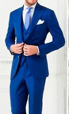 Royal Blue 3 Piece Mens Wedding Suits Bespoke Groom Best Man Groomsmen Tuxedos K