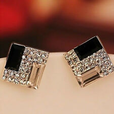 Fashion Jewelry Women Crystal Rhinestone square Earrings Ear Stud Earring