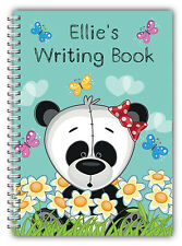A5 PERSONALISED CHILDREN'S NOTEBOOKS/50 LINED HAND WRITING PRACTICE PAPER/ 01