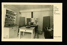 Swiss Cottage Osborne House postcard United Kingdom play house kitchen interior