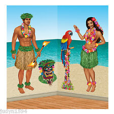 HULA GIRL & POLYNESIAN MAN PROPS INSTA THEME LUAU HAWAIIAN BEACH PARTY CUTOUTS