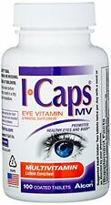 Alcon ICaps Multivitamin Eye Vitamin & Mineral Support Coated Tablets 100 Each