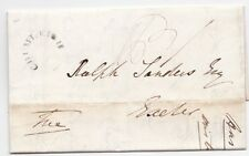 * 1840 MAY 19 CHUMLEIGH CIRC MILEAGE ERASED DEVON PART LETTER P F CLAY   EXETER