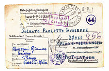 Q821-II WW-GERMANY ITALIAN P.O.W.FROM TRIVERO TO STALAG 307