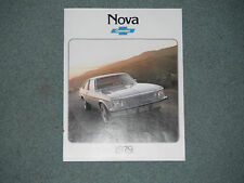 1979 Chevrolet Nova Automotive Brochure Car Pamphlet
