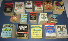 HUGE Wholesale lot of 8,000 Old Vintage 1930's WHISKEY & GIN - LABELS - BOSTON