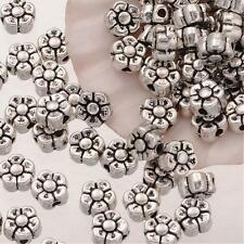Flower Beads Spacer Beads Metal Spacer Beads Antiqued Silver Beads 5mm Beads 20p