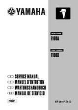New Yamaha F100 A X Outboard Repair Service Manual, 67F-28197-Z8-C2 FREE S&H