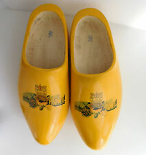 Traditional wooden Dutch clogs from Amsterdam Adult size UK 9.5 EUR 42 carved