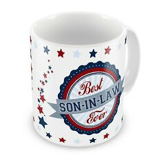 Best Son-In-Law Ever Novelty Gift Mug - Blue / Red