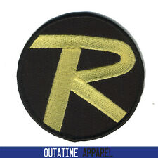 "Batman & Robin Logo Crest Badge Iron or Sew On Fancy Dress Patch 3.5"" (W)"