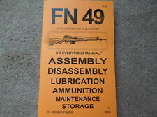 Belgium FN 49 Fabrique Nationale AutoLoading Rifle and Carbine Manual 55 pages