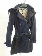 Burberry Brit Balmoral Packable Trench Coat In Black US 4 NWT