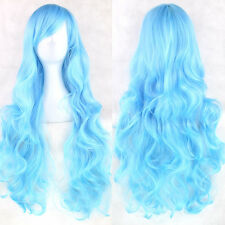 Halloween Women Fashion Lady Anime Long Curly Wavy Hair Party Cosplay Full Wig