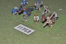 25mm english civil war artillery 3 guns & crews (11758)