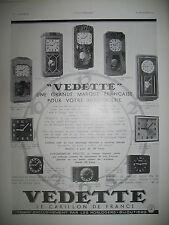 PUBLICITE DE PRESSE VEDETTE LE CARILLON DE FRANCE HORLOGERIE FRENCH AD 1934
